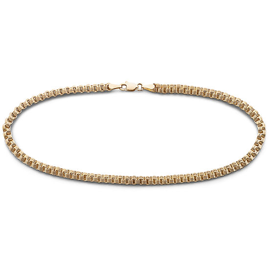com anklet claddaugh inch gold bracelet long amazon dp solid ankle