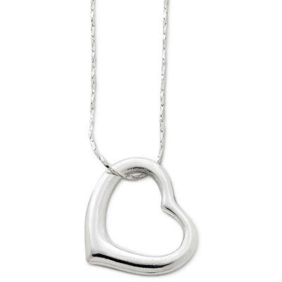 Decree® Long Openwork Heart Pendant Necklace