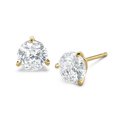 DiamonArt® 3 CT. T.W. Cubic Zirconia Stud Earrings