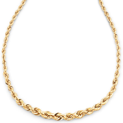 "10K Gold 18"" Graduated Rope Chain"