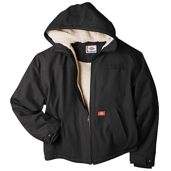 94f3ad1ddc0 Dickies Sanded Duck Sherpa Lined Hooded Jacket Big and Tall JCPenney