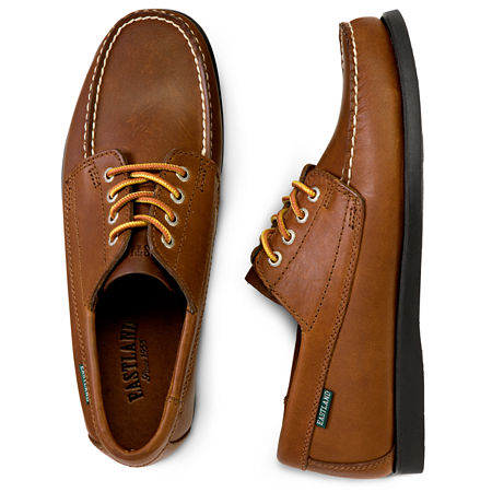Mens Retro Shoes | Vintage Shoes & Boots Eastland Falmouth Mens Leather Shoes Size 9 12 Wide Brown $89.99 AT vintagedancer.com