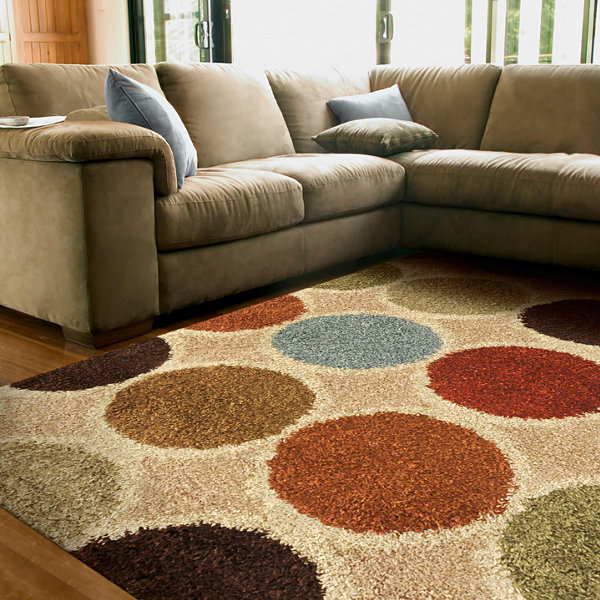Concepts Circle Shag Rectangular Rug