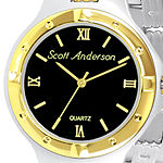 Mens Two-Tone Personalized Watch