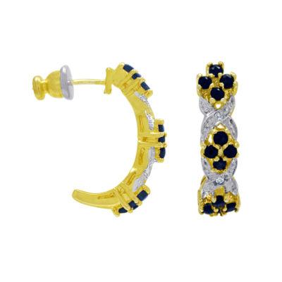 Sapphire & Diamond-Accent Earrings