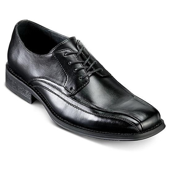 J Ferrar Derby Black Man's Dress Shoes Size 8 MEDIUM