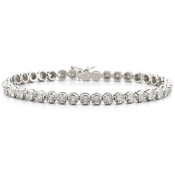 T W Diamond Sterling Silver Bracelet
