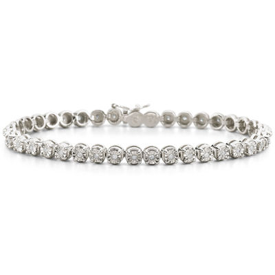1/2 CT. T.W. Diamond Sterling Silver Bracelet