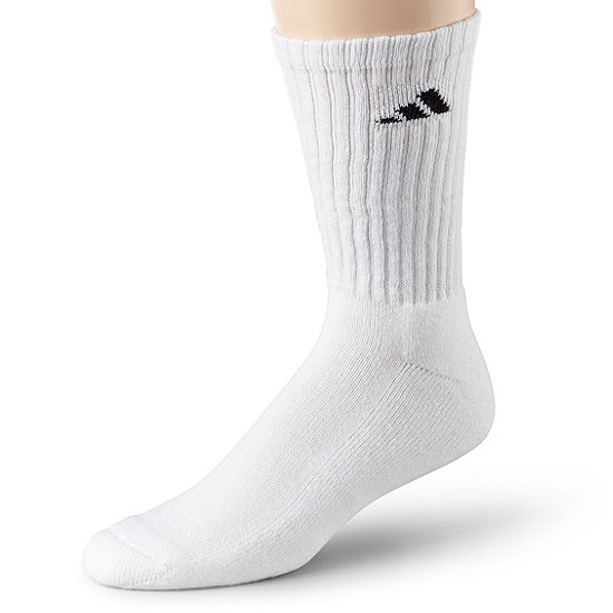 adidas® Men's 6-pk. Athletic Cushioned Crew Socks - Extended Sizes