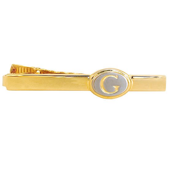 Engravable Two-Tone Oval Tie Bar