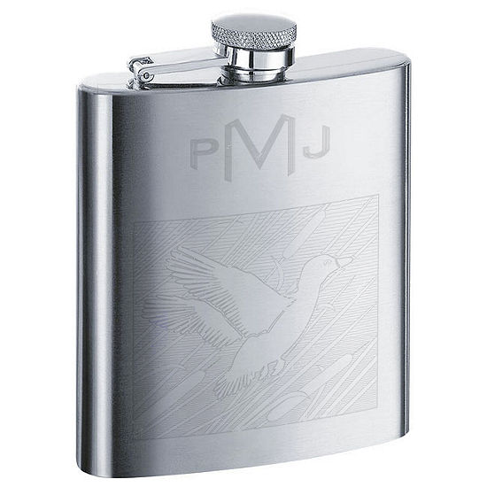 Engravable Stainless Steel Animal Theme Flask