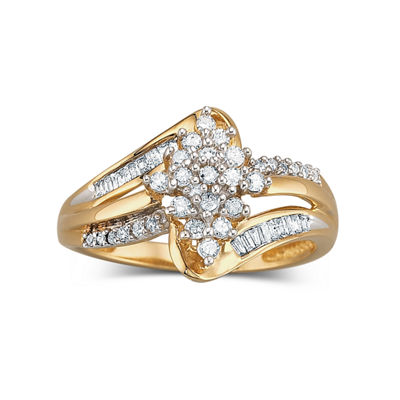1/3 CT. T.W. Diamond 10K Gold Cluster Ring