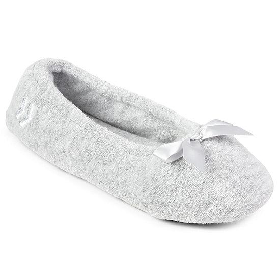 Isotoner Terry Womens Ballerina Slippers