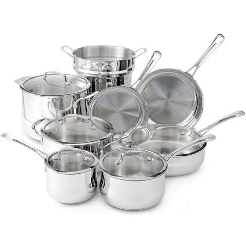 Cuisinart® Contour 13-pc. Stainless Steel Cookware Set