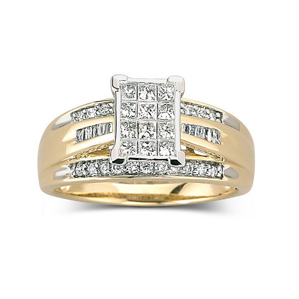 Incroyable T.W. Diamond Bridal Ring 10K Gold