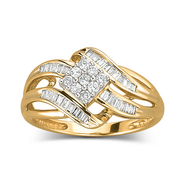 1 3 CT T W Diamond 10K Gold Ring JCPenney