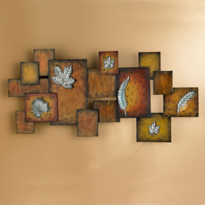 Leaves Abstract Panel Metal Wall Art