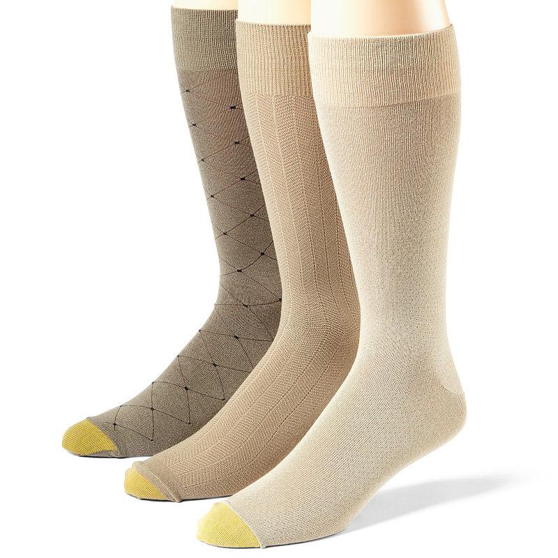 Gold Toe Mens Fashion 3 Pack Socks