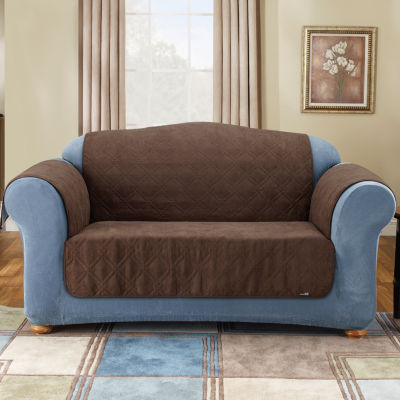 SURE FIT® Quilted Suede Sofa Pet Furniture Cover