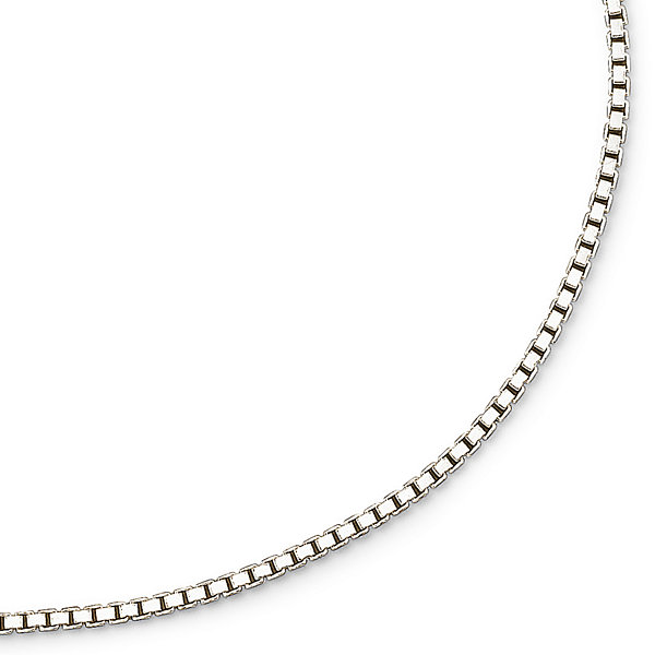 "Made in Italy Silver 18-30"" 2mm Large Box Chain"