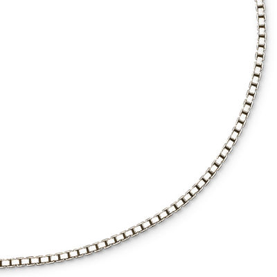 Made In Italy Sterling Silver 2mm Large Box Chain