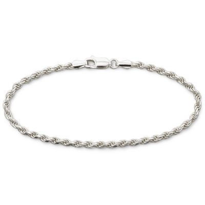 """Made in Italy Silver 7.5"""" 2.8mm Rope Bracelet"""