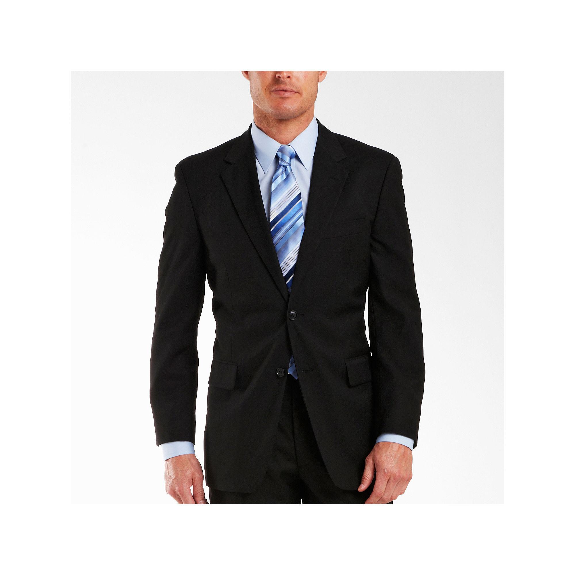 Adolfo Black Suit Jacket - Portly plus size,  plus size fashion plus size appare