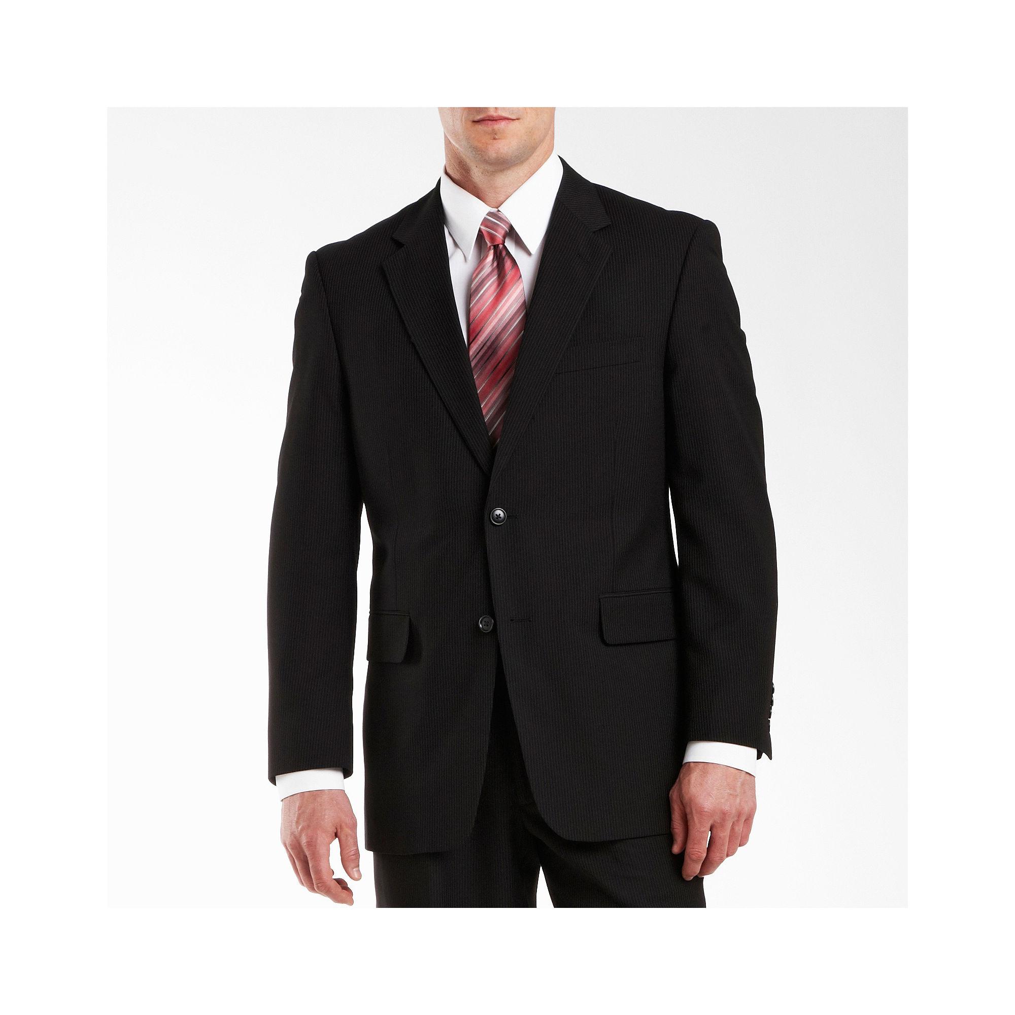 Adolfo Black Stripe Suit Jacket plus size,  plus size fashion plus size appare