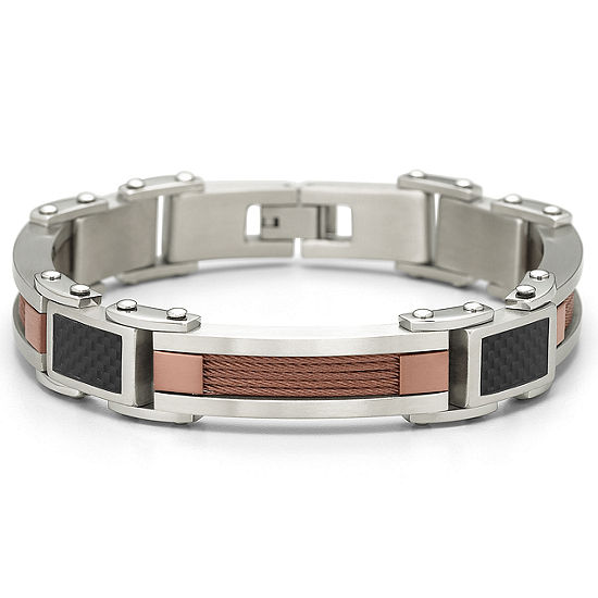 "Mens 8 1/2"" Carbon Fiber Bracelet"