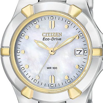 Citizen® Eco-Drive® Womens Two-Tone Stainless Steel Watch EW1534-57D
