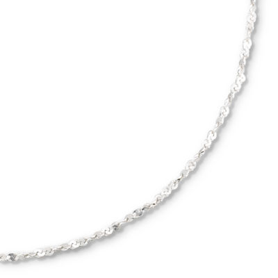 """Made in Italy Silver 18-20"""" 2mm Serpentine Chain"""