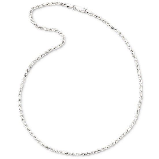 "Sterling Silver 18-24"" 2.8mm Rope Chain"