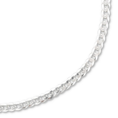 "Made in Italy Sterling Silver 20-28"" 3.2mm Curb Chain"