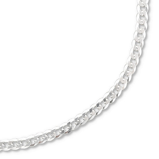 """Made in Italy Sterling Silver 20-28"""" 3.2mm Curb Chain"""