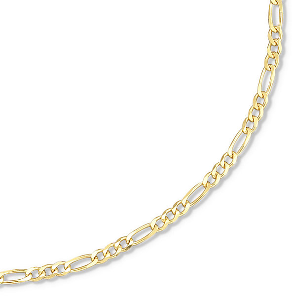 "Made in Italy 18K/Silver 18-24"" 3.2mm Figaro Chain"