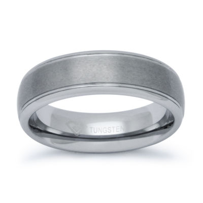 Mens 6mm Tungsten Comfort-Fit Ring