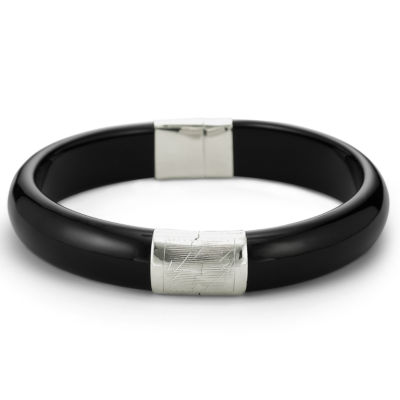 Genuine Onyx Bangle Sterling Silver