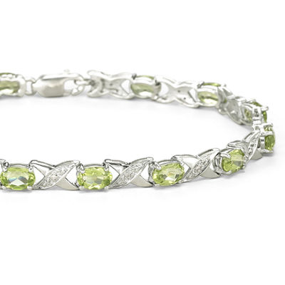 Genuine Peridot & Diamond-Accent Bracelet