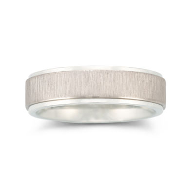 Mens 6mm Stainless Steel Comfort Fit Ring