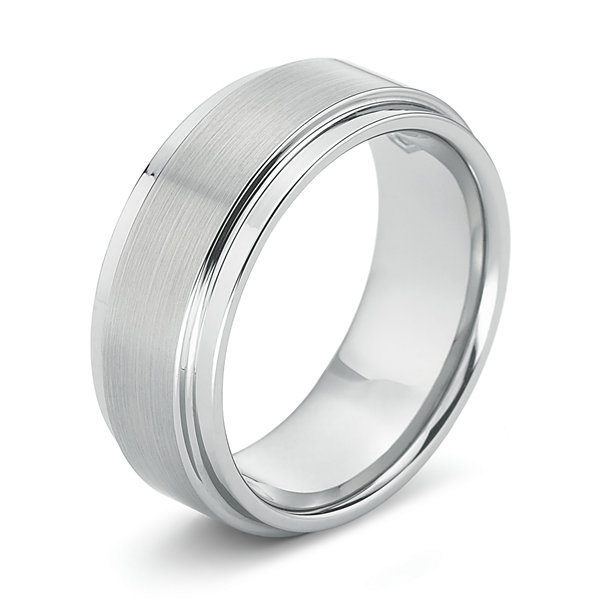 Mens 8mm Comfort-Fit Ring in Tungsten