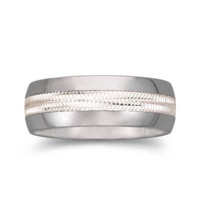 tungsten wedding band mens 8mm comfort fit - Jcpenney Mens Wedding Rings