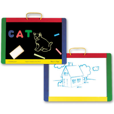 Melissa & Doug® Magnetic Chalk & Dry Erase Boards