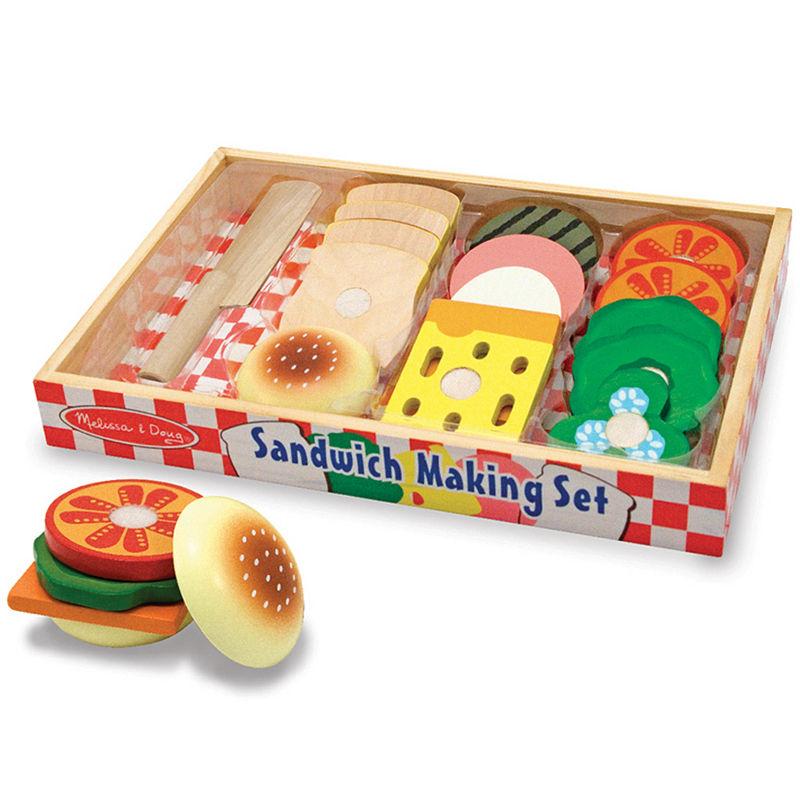 Melissa & Doug Play Food Sandwich Making Set, Multi-colored, One Size