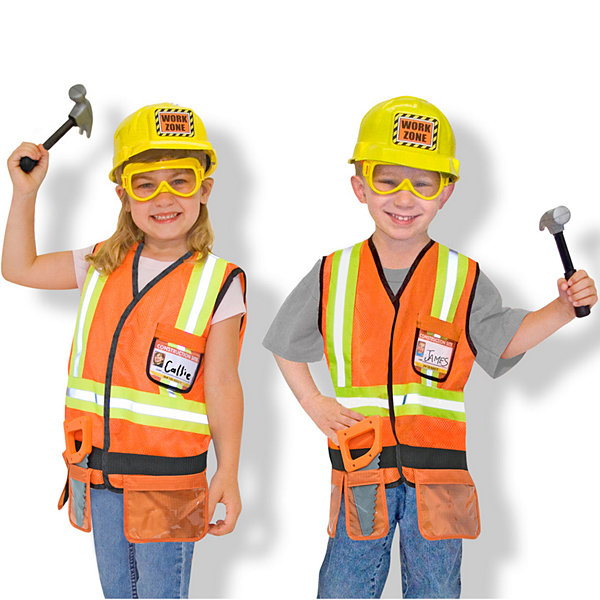 Melissa & Doug® Construction Worker Role Play Costume Set