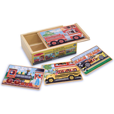 Melissa & Doug® Vehicle Puzzle in a Box