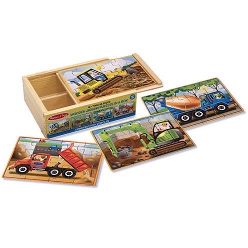 Melissa & Doug® Construction Puzzles in a Box