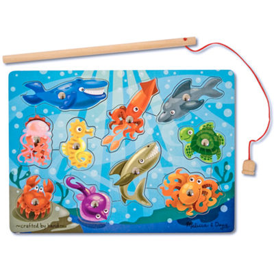 Melissa & Doug® 10-pc. Deluxe Fishing Magnet Game