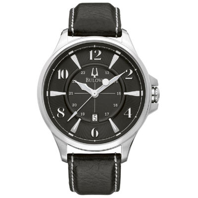 Bulova Bulova Mens Black Strap Watch-96b135
