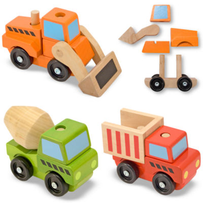 Melissa & Doug® Stacking Construction Toy Trucks