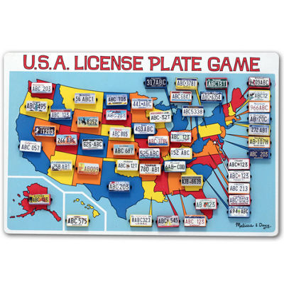 Melissa & Doug® U.S.A. License Plate Game